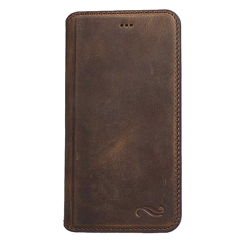 """Antic """"Pan Book"""" iPhone 6 Plus / 6S Plus Leder Tasche mit Aufstellfunktion & Kartenfächern"""