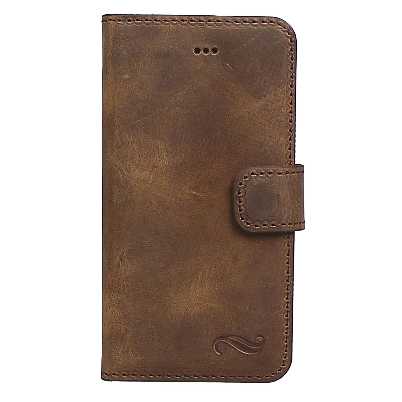 Antic Ra Wallet Iphone SE / 5 / 5S Ledertasche mit Aufstellfunktion & Kartenfächern
