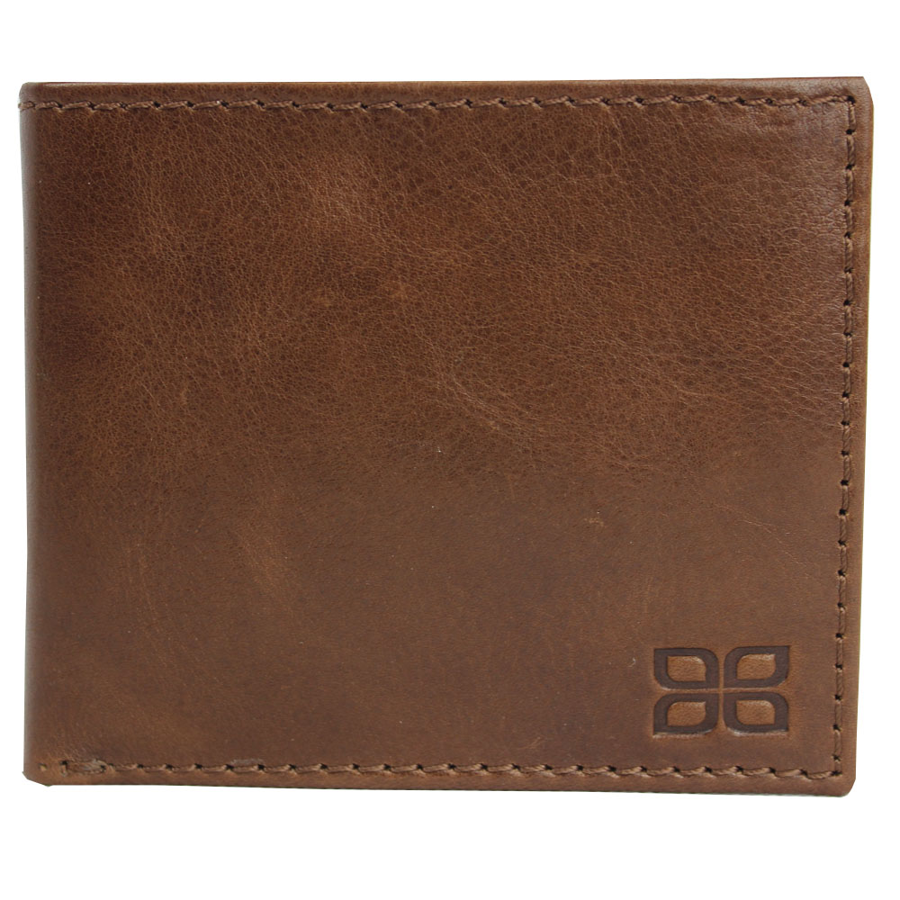 Jenes & Jandura Unisex Handgemachte Leder Brieftasche Querformat Braun Milano