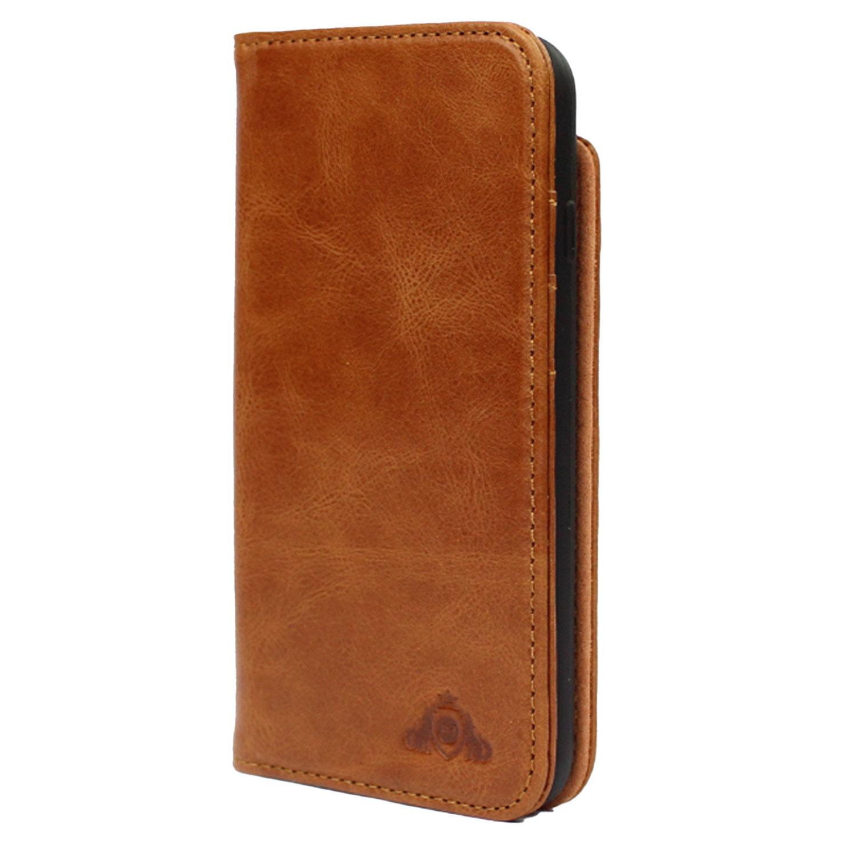 Jenes & Jandura iPhone 8 Leder Tasche mit Aufstellfunktion & Kartenfächern