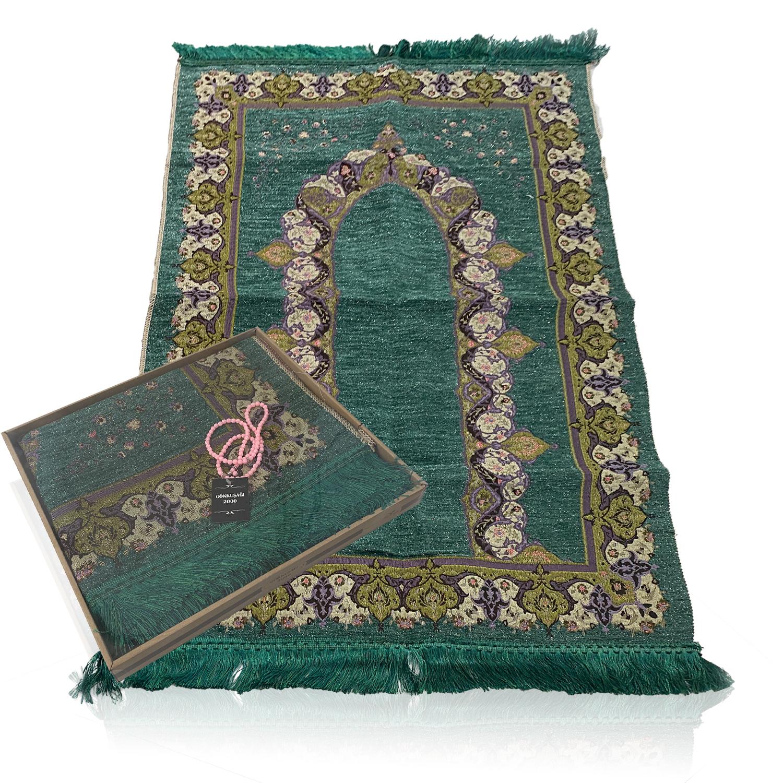 Muslimischer Gebetsteppich, leichter und tragbarer Gebetsteppich, islamische Gebetsmatte für Outdoor-Aktivitäten, Beteteppiche in verschiedenen Farben und Mustern, Seccade als perfekte Geschenkidee