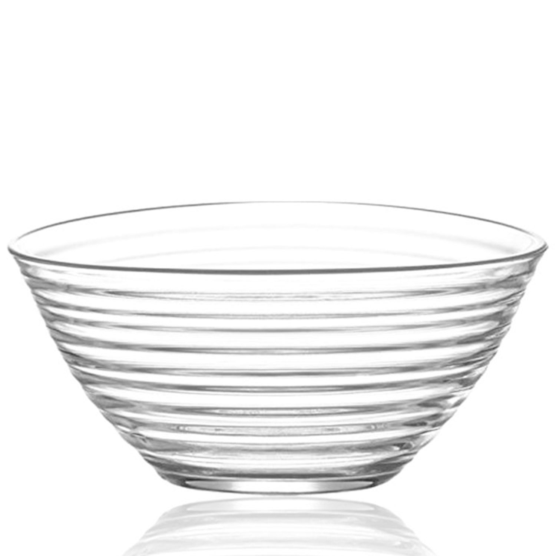 LAVA Derin, 6 Stück Glasschalen im Set in extravaganten Rillenoptik, formschöne Dessertschale, Vorspeiseschalen für Partys, Knabberschalen aus Glas, Glasschalenset für Dips, Chips und Müsli und Salate