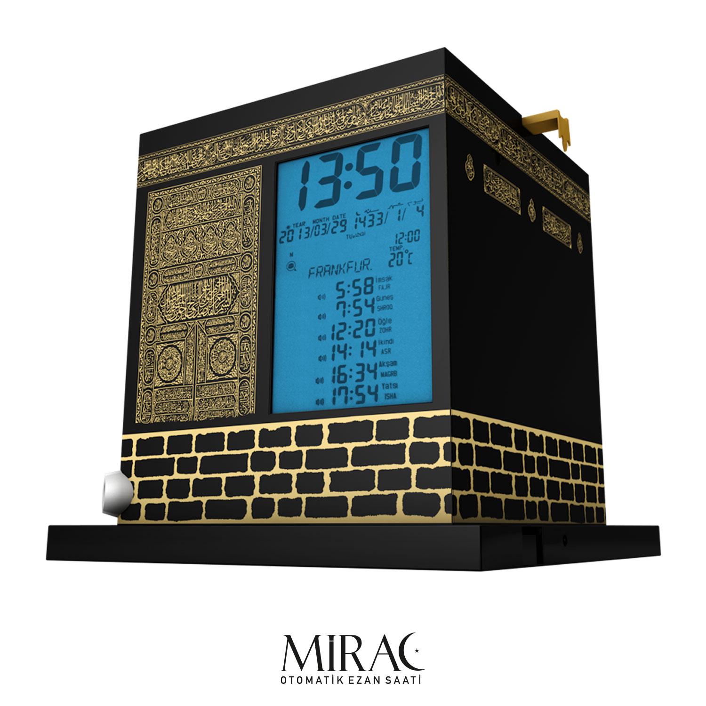 Vollautomatische Azan-Uhr als Kaaba-Modell